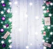 Fondo de la Navidad, regalos de la Navidad Foto de archivo libre de regalías
