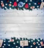 Fondo de la Navidad, regalos de la Navidad Imagenes de archivo