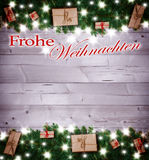 Fondo de la Navidad, regalos de la Navidad Fotos de archivo