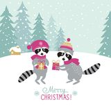 Fondo de la Navidad, tarjeta de felicitación Fotos de archivo