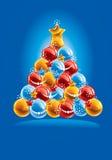 Fondo de la Navidad. Vector. Fotografía de archivo