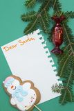 Fondo de la Navidad verde del uno-color o del Año Nuevo con diseño minimalistic Fotografía de archivo