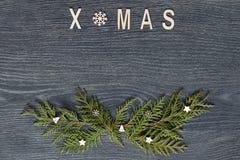 Fondo de la Navidad, visión superior Imagen de archivo libre de regalías