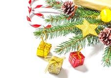 Fondo de la Navidad y del Año Nuevo Foto de archivo