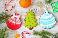 Fondo de la Navidad y del Año Nuevo Fotografía de archivo libre de regalías