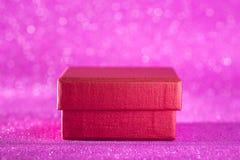 Fondo de la Navidad y del Año Nuevo Caja de regalo de la decoración de la Navidad Fotografía de archivo