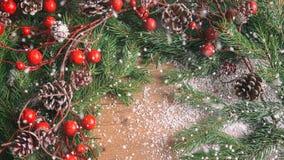 Fondo de la Navidad y del Año Nuevo, decoración del día de fiesta Imagen de archivo