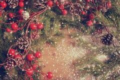 Fondo de la Navidad y del Año Nuevo, decoración del día de fiesta Imagen de archivo libre de regalías