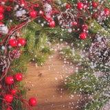 Fondo de la Navidad y del Año Nuevo, decoración del día de fiesta Fotos de archivo libres de regalías