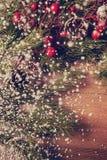 Fondo de la Navidad y del Año Nuevo, decoración del día de fiesta Fotografía de archivo libre de regalías