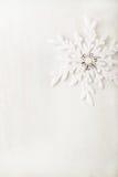 Fondo de la Navidad y del Año Nuevo snowflake Copie el espacio Fotos de archivo