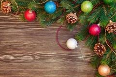 Fondo de la Navidad y del Año Nuevo Foto de archivo libre de regalías