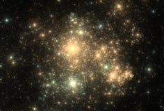 Fondo de la nebulosa de la galaxia del oro Foto de archivo