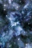 Fondo de la nebulosa y del starfield Foto de archivo libre de regalías
