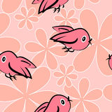 Fondo de la niñez con los pájaros Imagen de archivo libre de regalías