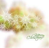Fondo de la nieve de la Navidad Fotografía de archivo