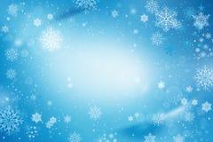 Fondo de la nieve de las vacaciones de invierno