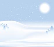 Fondo de la nieve del día de invierno Imágenes de archivo libres de regalías