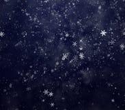 Fondo de la nieve del invierno del Año Nuevo Imagenes de archivo