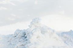 Fondo de la nieve fresca Fotografía de archivo