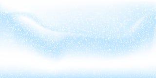 Fondo de la nieve que cae Ejemplo del vector con los copos de nieve Cielo que nieva del invierno libre illustration