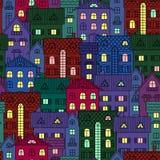 Fondo de la noche con Windows iluminado libre illustration