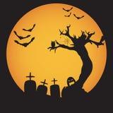 Fondo de la noche de Halloween del Grunge Foto de archivo