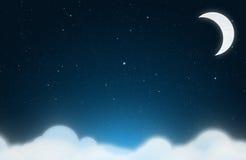 Fondo de la noche estrellada stock de ilustración