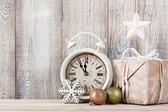 Fondo de la Nochebuena y del Año Nuevo Imagen de archivo libre de regalías