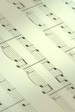 Fondo de la nota de la música Fotografía de archivo