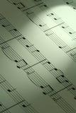 Fondo de la nota de la música Foto de archivo libre de regalías