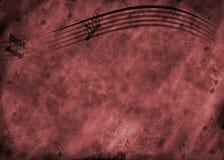 Fondo de la nota de la música de Grunge Foto de archivo