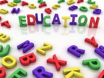fondo de la nube de la palabra del concepto de la educación del imagen 3d Imagen de archivo libre de regalías