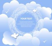 Fondo de la nube para el texto. tiempo excelente Ilustración del Vector