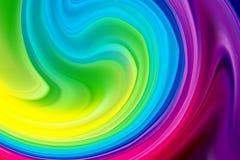Fondo de la onda, cartel colorido abstracto con el efecto 3d Forma del líquido del flujo libre illustration