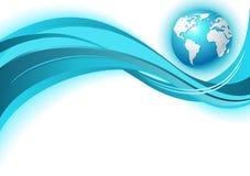 Fondo de la onda de la correspondencia de mundo del asunto