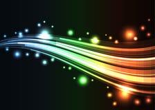 Fondo de la onda del arco iris Imagen de archivo libre de regalías