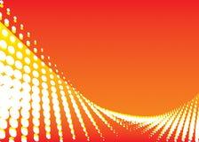 Fondo de la onda del color rojo ilustración del vector