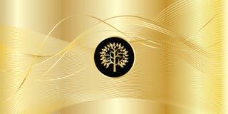 Fondo de la onda del oro Imágenes de archivo libres de regalías