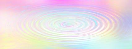 Fondo de la ondulación del agua del arco iris Foto de archivo