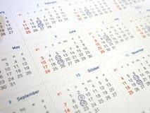 Fondo de la página, del orden del día o de la cita del concepto del plan del año civil Fotos de archivo libres de regalías