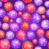 Fondo de la púrpura de Gem Seamless Pattern On Dark Fotos de archivo libres de regalías