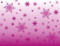Fondo de la púrpura de los copos de nieve foto de archivo libre de regalías