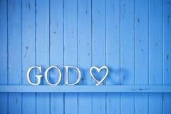 Fondo de la palabra de la religión de dios Imagen de archivo
