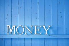 Fondo de la palabra del dinero Imagen de archivo libre de regalías