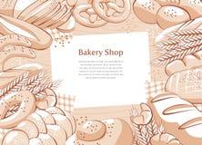 Fondo de la panadería Foto de archivo libre de regalías