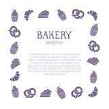 Fondo de la panadería con área de texto Fotos de archivo
