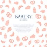 Fondo de la panadería con área de texto Ilustración del vector Fotos de archivo libres de regalías