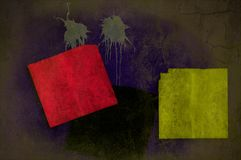 Fondo de la pared de Grunge en los planos múltiples Fotografía de archivo libre de regalías