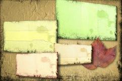 Fondo de la pared de Grunge en los planos múltiples Fotos de archivo